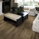 Horizen Flooring presents to you a picture of a 12mm Laminate flooring with click lock system, manufactured by EagleCreek Floors. Color: Oak Bradberry.