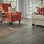 Horizen Flooring presents to you a picture of a 12mm Laminate flooring with click lock system, manufactured by EagleCreek Floors. Color: Oak Magdalena.
