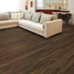 Horizen Flooring presents to you a picture of a 12mm Laminate flooring with click lock system, manufactured by EagleCreek Floors. Color: Baja Hickory.