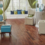 Horizen Flooring presents to you a picture of a hickory wide plank hardwood flooring, manufactured by Eagle Creek Floors. Color: Hickory Tuscany