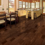 Horizen Flooring presents to you a picture of a teak wide plank hardwood flooring, manufactured by Eagle Creek Floors. Color: Lauguna Teak.