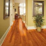Horizen Flooring presents to you a picture of a maple wide plank hardwood flooring, manufactured by Eagle Creek Floors. Color: Maple Golden.