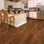Horizen Flooring presents to you a picture of a hickory wide plank hardwood flooring, manufactured by Eagle Creek Floors. Color: Barrel Hickory.