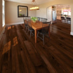Horizen Flooring presents to you a picture of a hickory wide plank hardwood flooring, manufactured by Eagle Creek Floors. Color: Appalachian Hickory.