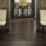 Horizen Flooring presents to you a picture of a hickory wide plank hardwood flooring, manufactured by Eagle Creek Floors. Color: Potomac Hickory.