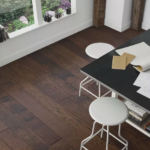 Horizen Flooring presents to you a picture of a handscrapped hickory hardwood flooring, manufactured by Regal Hardwoods. Color: Carlisle.