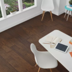 Horizen Flooring presents to you a picture of a handscrapped hickory hardwood flooring, manufactured by Regal Hardwoods. Color: Grayson