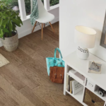 Horizen Flooring presents to you a picture of a handscrapped hickory hardwood flooring, manufactured by Regal Hardwoods. Color: Madison