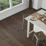 Horizen Flooring presents to you a picture of a handscrapped hickory hardwood flooring, manufactured by Regal Hardwoods. Color: Remi