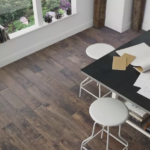Horizen Flooring presents to you a picture of a 7-ply baltic birch core birch hardwood flooring, manufactured by Regal Hardwoods. Color: Burnt Umber.