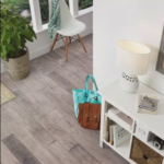 Horizen Flooring presents to you a picture of a 7-ply baltic birch core birch hardwood flooring, manufactured by Regal Hardwoods. Color: Light Stone.
