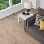 Horizen Flooring presents to you a picture of a 7-ply baltic birch core birch hardwood flooring, manufactured by Regal Hardwoods. Color: Polar White.