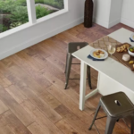 Horizen Flooring presents to you a picture of a 7-ply baltic birch core birch hardwood flooring, manufactured by Regal Hardwoods. Color: Pueblo Clay.
