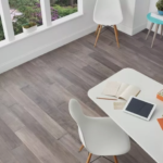 Horizen Flooring presents to you a picture of a 7-ply baltic birch core birch hardwood flooring, manufactured by Regal Hardwoods. Color: Wolf Gray.