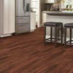 Horizen Flooring presents to you a picture of an acacia wide plank hardwood flooring, manufactured by Eagle Creek Floors. Color: Amber Rosa