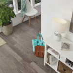 Horizen Flooring presents to you a picture of a 7-ply baltic birch core hickory hardwood flooring, manufactured by Regal Hardwoods. Color: Ash Gray.
