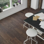 Horizen Flooring presents to you a picture of a 7-ply baltic birch core hickory hardwood flooring, manufactured by Regal Hardwoods. Color: Burlap.