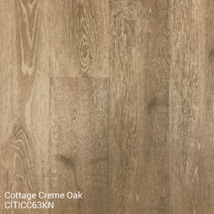 Horizen Flooring presents to you a picture of a 100% waterproof luxury vinyl plank flooring, manufactured by Knoas Flooring. Color: Cottage Creme Oak.