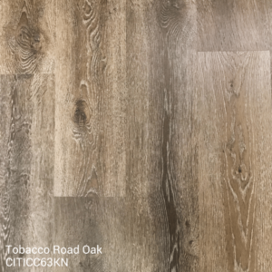 Horizen Flooring presents to you a picture of a 100% waterproof luxury vinyl plank flooring, manufactured by Knoas Flooring. Color: Tobacco Road Oak.