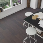 Horizen Flooring presents to you a picture of a 7-ply baltic birch core Oak hardwood flooring, manufactured by Regal Hardwoods. Color: Atlantic Avenue.