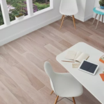 Horizen Flooring presents to you a picture of a 7-ply baltic birch core Oak hardwood flooring, manufactured by Regal Hardwoods. Color: Pigeon Cove.