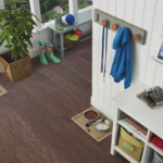 Horizen Flooring presents to you a picture of a 7-ply baltic birch core Oak hardwood flooring, manufactured by Regal Hardwoods. Color: Railroad Avenue.