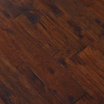 Horizen Flooring presents to you a picture of a 7-ply baltic birch core Hickory hardwood flooring, manufactured by Regal Hardwoods. Color: Ducale