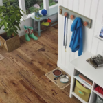 Horizen Flooring presents to you a picture of a 7-ply baltic birch core Hickory hardwood flooring, manufactured by Regal Hardwoods. Color: Versailles.