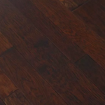 Horizen Flooring presents to you a picture of a 7-ply baltic birch core Hickory hardwood flooring, manufactured by Regal Hardwoods. Color: Hot Tottie.