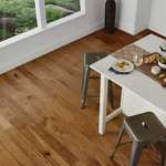 Horizen Flooring presents to you a picture of a 7-ply baltic birch core Hickory hardwood flooring, manufactured by Regal Hardwoods. Color: Brighton Avenue