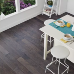 Horizen Flooring presents to you a picture of a 7-ply baltic birch core Hickory hardwood flooring, manufactured by Regal Hardwoods. Color: New Vanderbilt