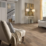 Horizen Flooring presents to you a picture of a maple wide plank hardwood flooring, manufactured by Eagle Creek Floors. Color: Venice Maple