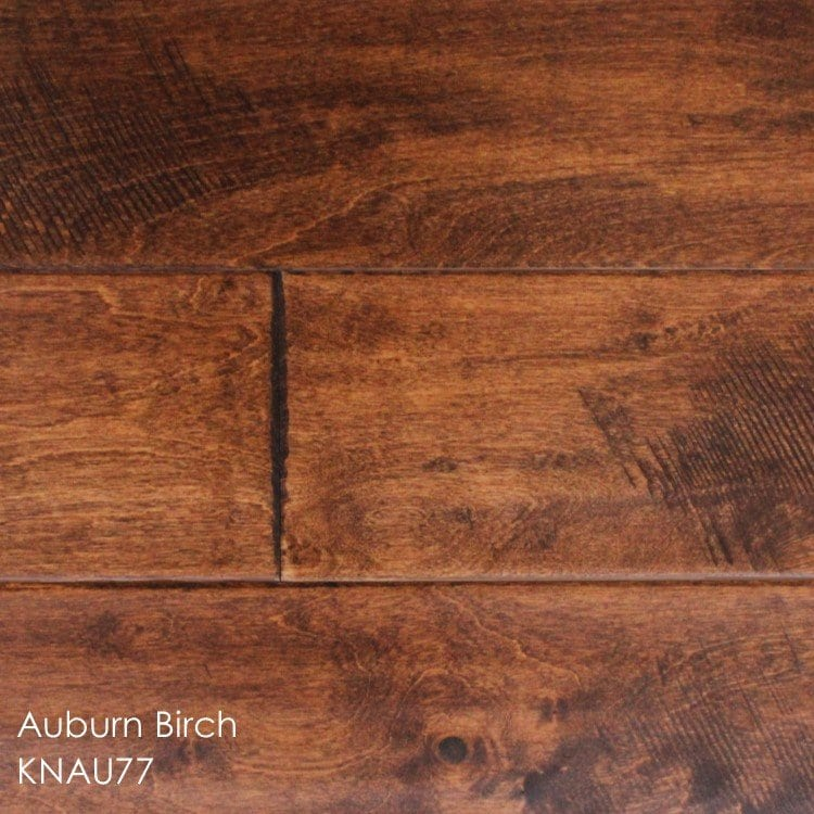 "Horizen Flooring presents to you a picture of a 5"" wide birch hardwood flooring, manufactured by Knoas Flooring. Color: Auburn Birch"