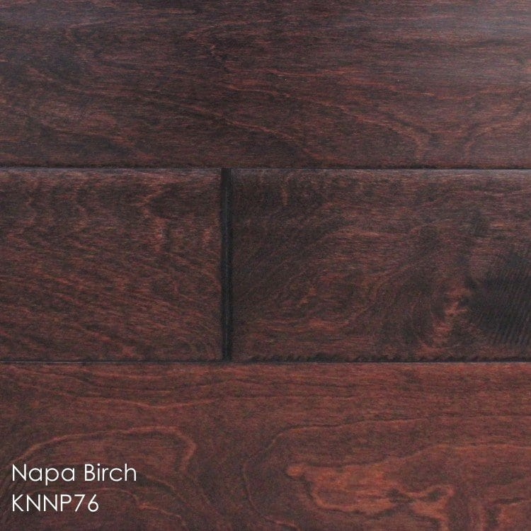 """Horizen Flooring presents to you a picture of a 5"""" wide birch hardwood flooring, manufactured by Knoas Flooring. Color: Napa Birch"""