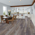 Horizen Flooring presents to you a picture of a luxury vinyl plank flooring, manufactured by Eagle Creek Floors in the Syncorex collection. Color: Windsong Oak