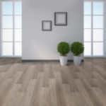 Horizen Flooring presents to you a picture of a luxury vinyl plank flooring, manufactured by Eagle Creek Floors in the Syncorex collection. Color: Silver Spur Oak