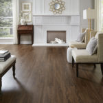 Horizen Flooring presents to you a picture of a luxury vinyl plank flooring, manufactured by Eagle Creek Floors in the Syncorex collection. Color: Rustic Sand