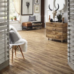 Horizen Flooring presents to you a picture of a luxury vinyl plank flooring, manufactured by Eagle Creek Floors in the Syncorex collection. Color: Woodland
