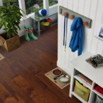 Horizen Flooring presents to you a picture of a 7-ply baltic birch core Hickory hardwood flooring, manufactured by Regal Hardwoods. Color: Ozark Highlands.