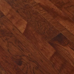 Horizen Flooring presents to you a picture of a 7-ply baltic birch core Hickory hardwood flooring, manufactured by Regal Hardwoods. Color: Redwood Mountain.