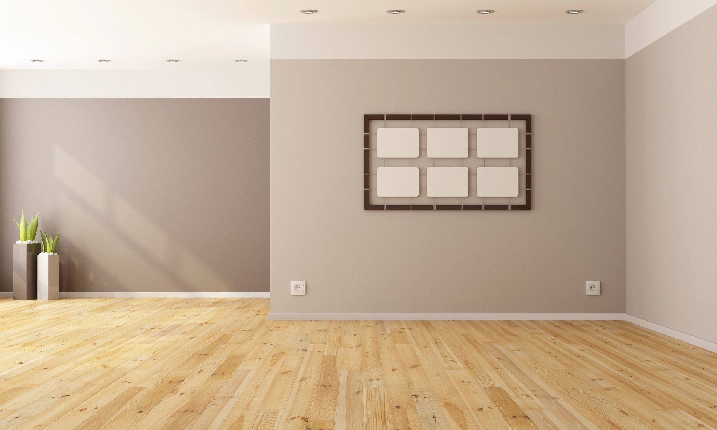 This is a picture of a satisfied flooring project completion