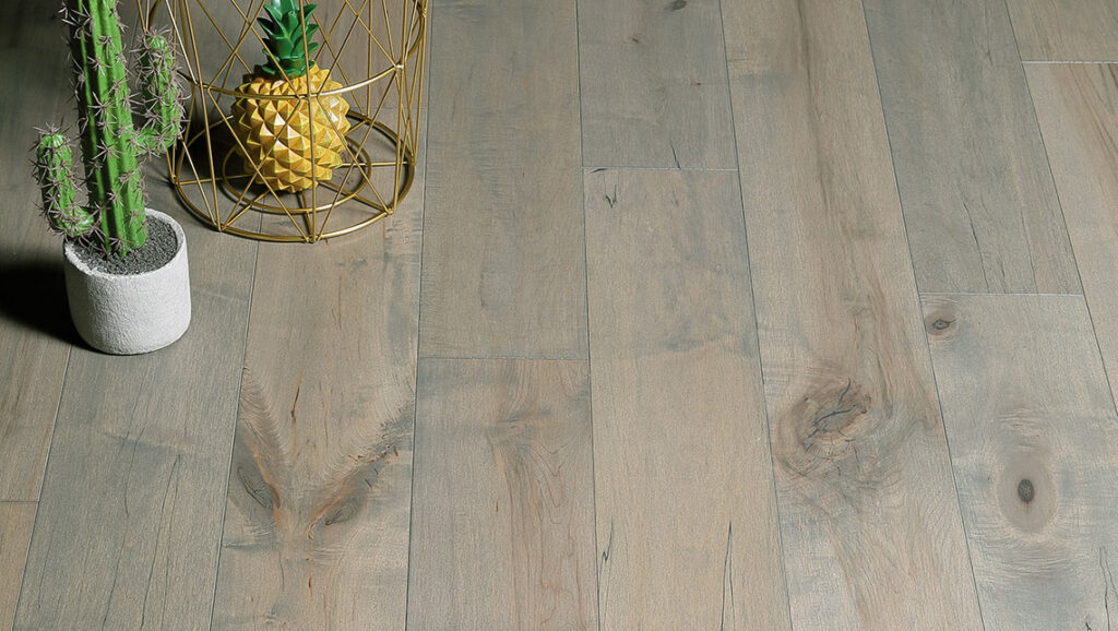 "Horizen Flooring presents to you a picture of a quality 6"" wide plank Maple hardwood flooring, manufactured by Aayers Flooring. Color: Hackberry. Incorporated in Kent Washington in 2012, AAYERS Flooring has been producing quality lumbers and world class floorings since 2000 through its Holding company. AAYERS Flooring inherited expertise in producing stylish and quality solid and engineered hardwood floors, and all of its our products have been very well accepted in the market. Taking pride in using quality materials, state-of-the-art equipment and exacting safety and quality control measures to ensure that every customer receives the highest quality product, AAYERS Flooring is committed to redefining the look of floors and beautifying interior spaces, offering product value, sustainable flooring solutions and incredible style options."