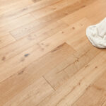 """Horizen Flooring presents to you a picture of a quality 7.5"""" wide plank European White Oak Hardwood flooring. Product is wirebrushed finished. LW Flooring is widely reknowned for it's German adhesive and state of the art technology. Style Presented: Venice Oak - LW Flooring Renaissance Collection."""